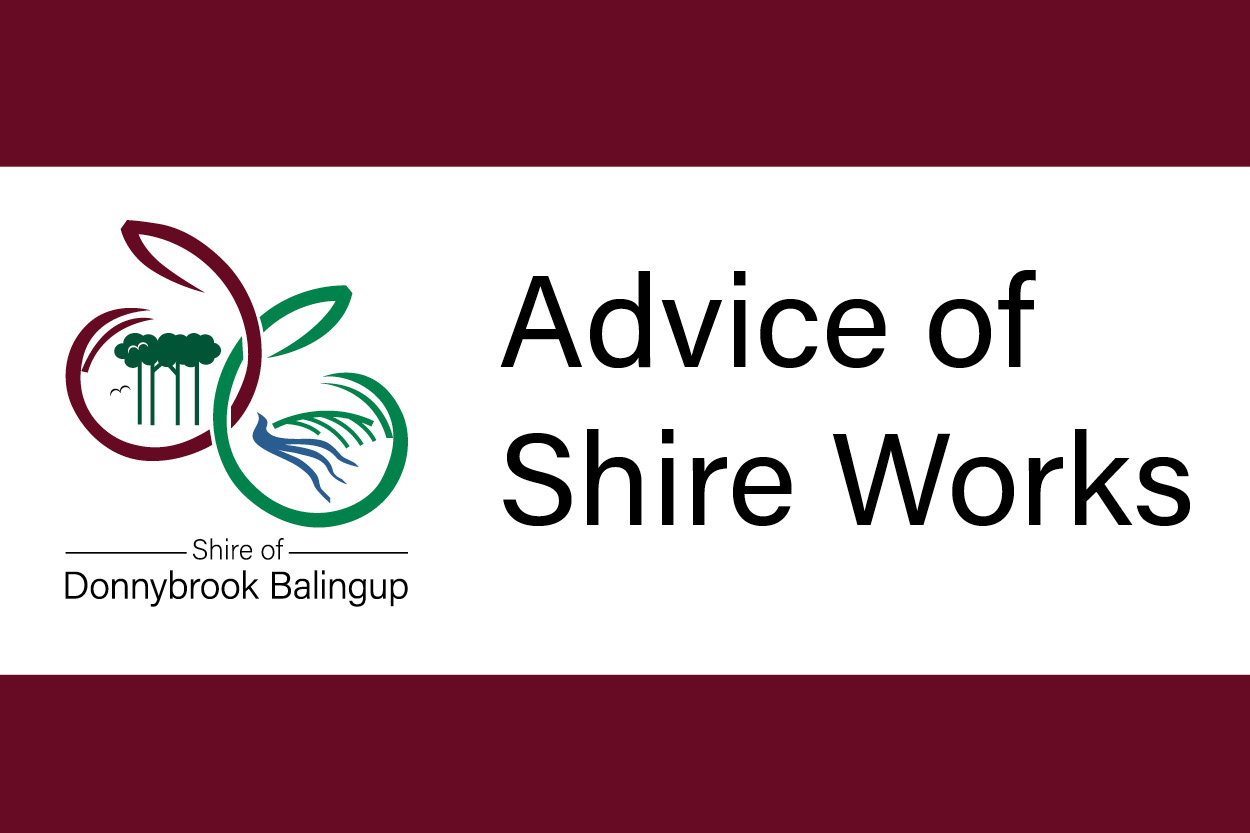 ADVICE OF SHIRE WORKS: NOVEMBER 2020